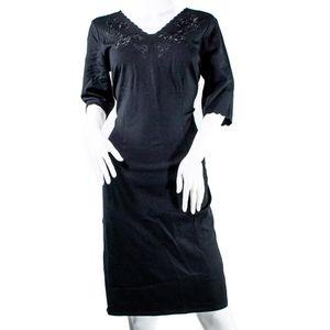 Tahari Black Scalloped Dress